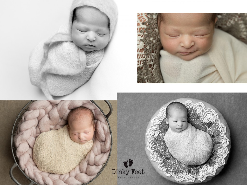newborn wrapped in a cocoon